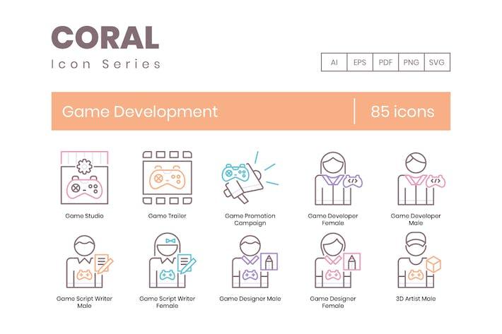 85 Icons für die Spieleentwicklung - Coral-Serie