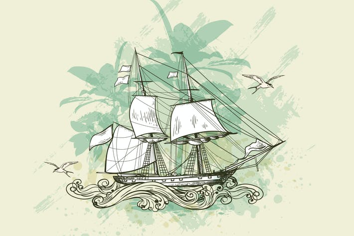 Thumbnail for Vintage Sailing Ship
