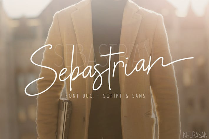 Thumbnail for Sebastrian Font Duo