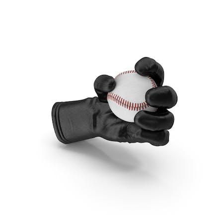 Guante sosteniendo una pelota de béisbol