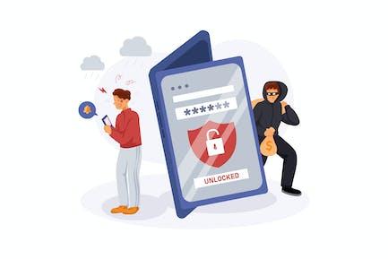 Cyber Crime Illustration Concept