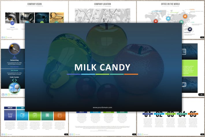 Thumbnail for MILK CANDY Powerpoint