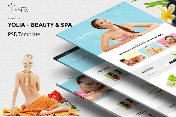 Thumbnail for Yolia - Beauty PSD Template