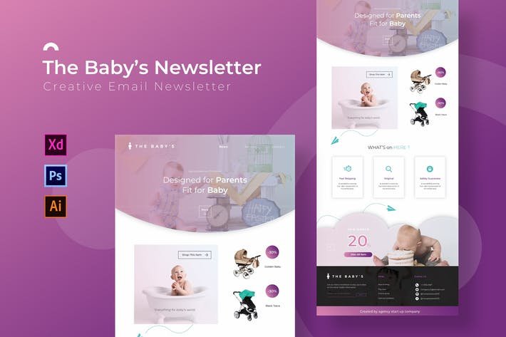 Thumbnail for The Baby's | Newsletter Template