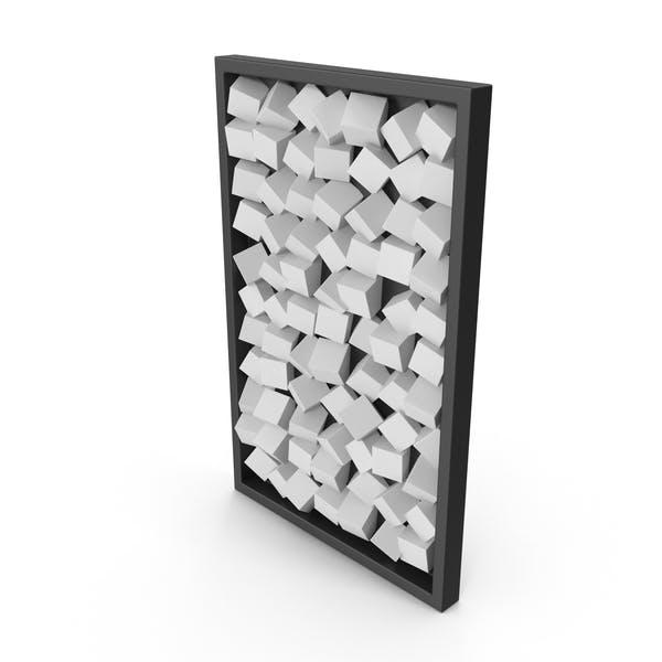 Moderno arte de pared de madera, color blanco