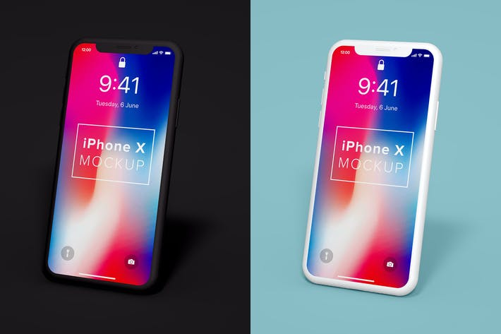 Cover Image For iPhone X Clay Mockup