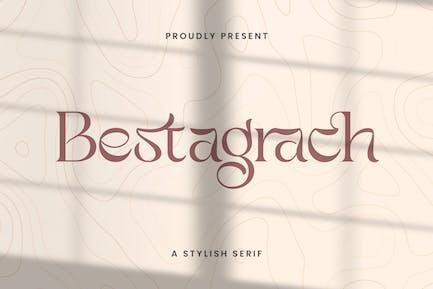 Bestagrach - Unique Ligatures Connected Serif