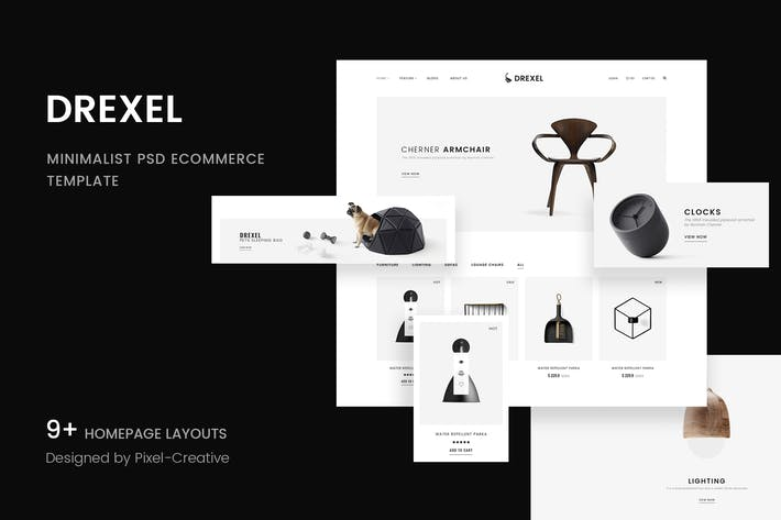 Thumbnail for Drexel - PSD Ecommerce Templates