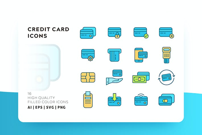 Cover Image For CREDIT CARD FILLED COLOR