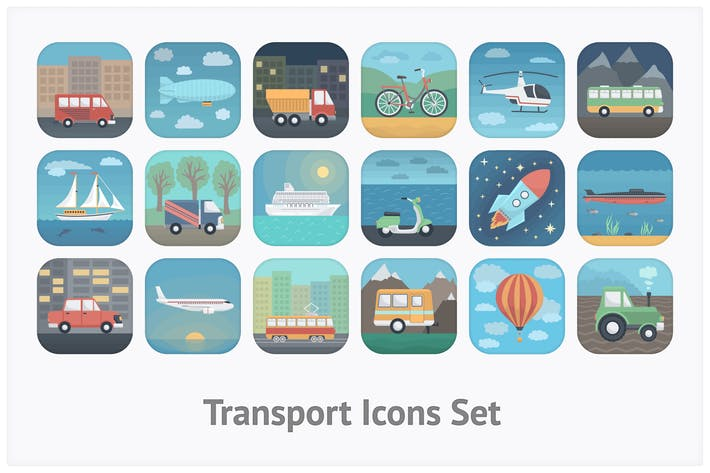 Thumbnail for Transport App Icons