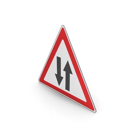Verkehrsschild Zwei-Wege-Verkehr voraus