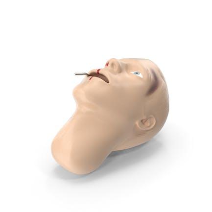 Пострадавшая голова манекена первой помощи