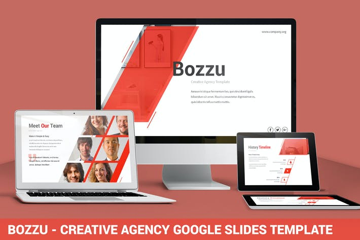 Thumbnail for Bozzu - Creative Agency Google Slides Template