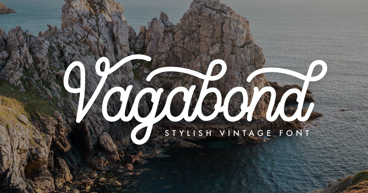 Download Vagabond - Handmade Font by micromove