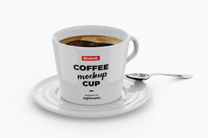 Thumbnail for Ceramic Coffee Cup Mockup Template