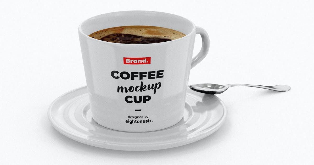 Download Ceramic Coffee Cup Mockup Template by EightonesixStudios