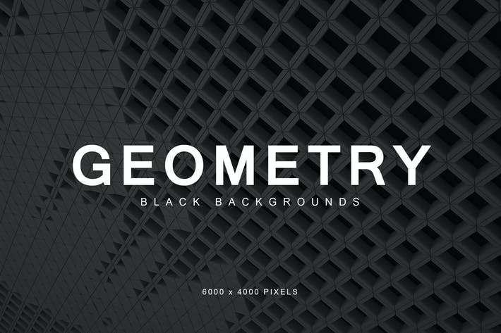 Thumbnail for Black Geometry Backgrounds 2