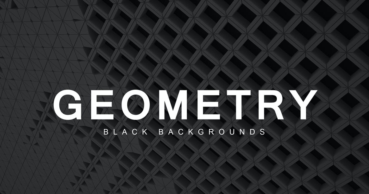 Download Black Geometry Backgrounds 2 by M-e-f