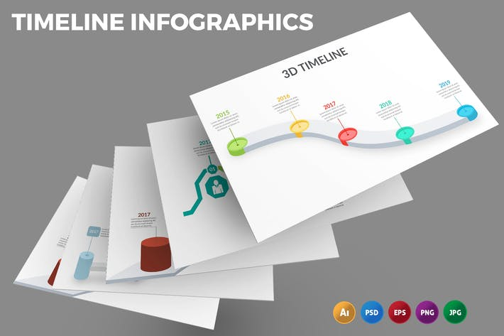Карта временной шкалы — Инфографика дизайн