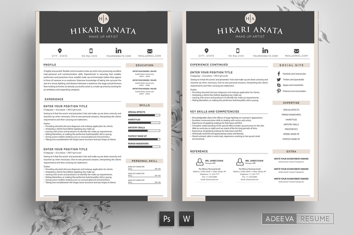 Thumbnail for Simple Resume Template Anata