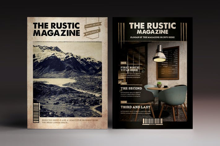 Thumbnail for The Rustic Magazine Indesign Template