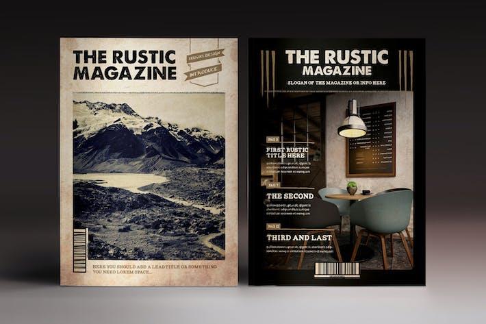 Thumbnail for Le Modèle Indesign Magazine Rustique