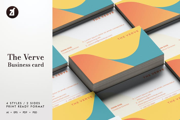 Thumbnail for The Verve - Business card template