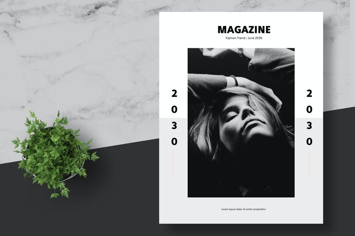 Thumbnail for Clean and Minimal Fashion Magazine Template