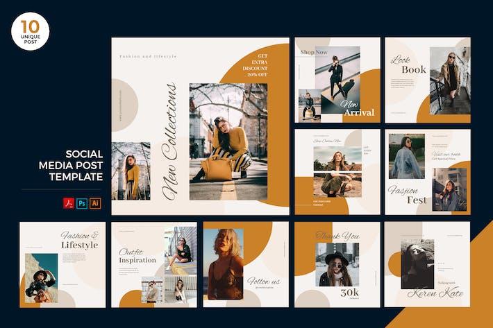 Thumbnail for Fashion Lifestyle Social Media Kit PSD & AI