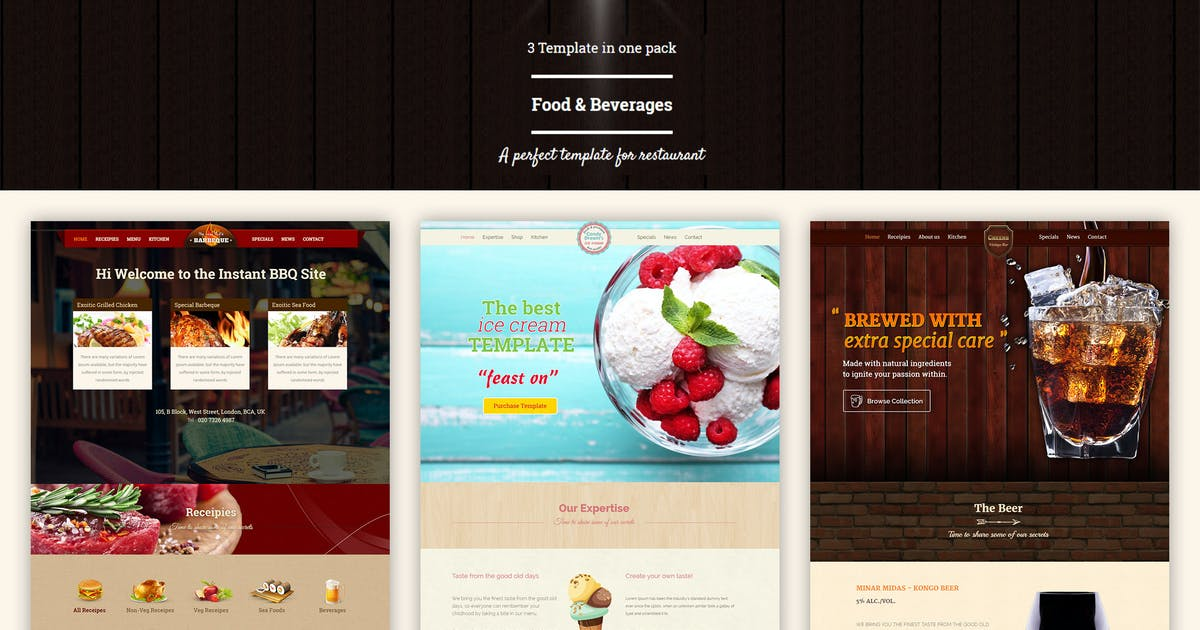 Download Food & Beverages One Page HTML5 Template by BuddhaThemes