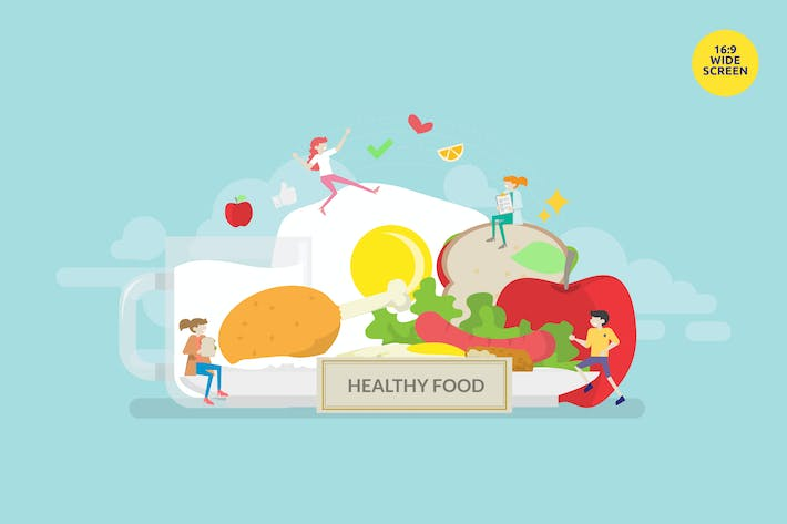 Thumbnail for Healthy Diet Vector Illustration Concept