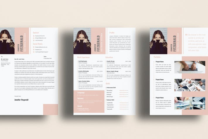 Thumbnail for Multimedia Creative Resume CV Cover Letter
