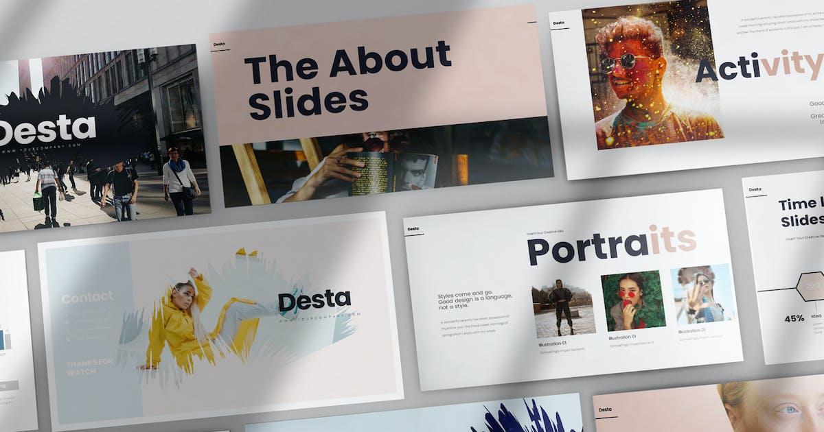 Download Desta PowerPoint Presentation by StockShape