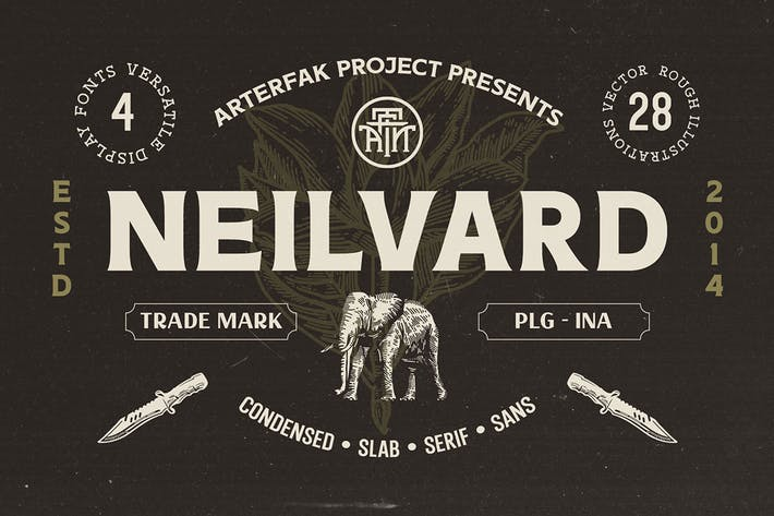 Thumbnail for Neilvard - Font Set