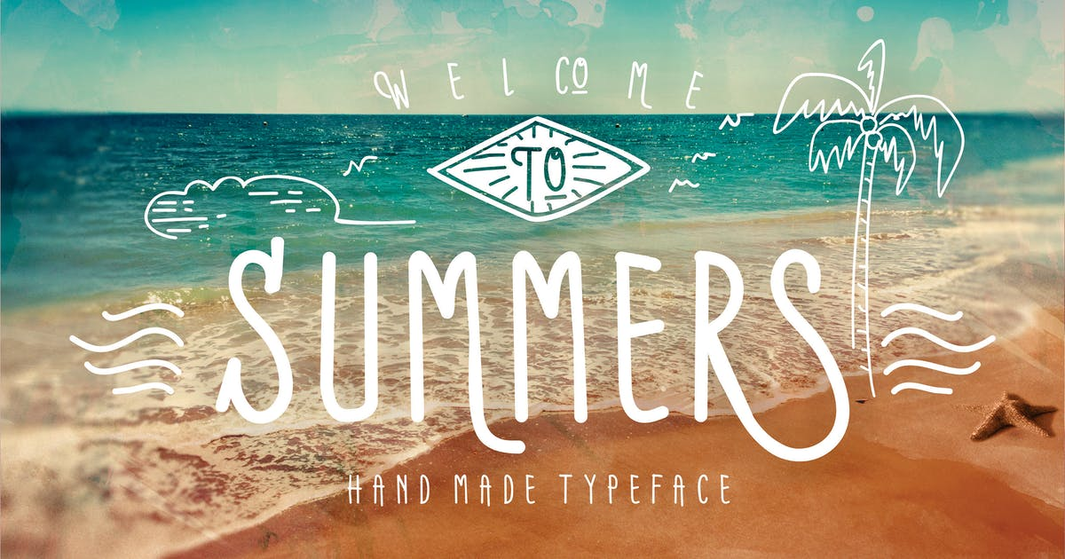 Summers Typeface + BONUS vector by inumocca