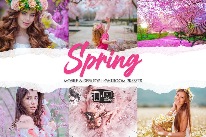 Весна - 15 пресетов премиум-класса Lightroom