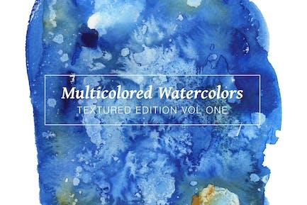 Multicolored Textured Watercolors Vol 1