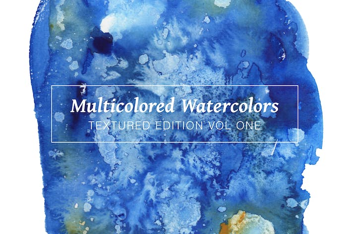 Thumbnail for Multicolored Textured Watercolors Vol 1