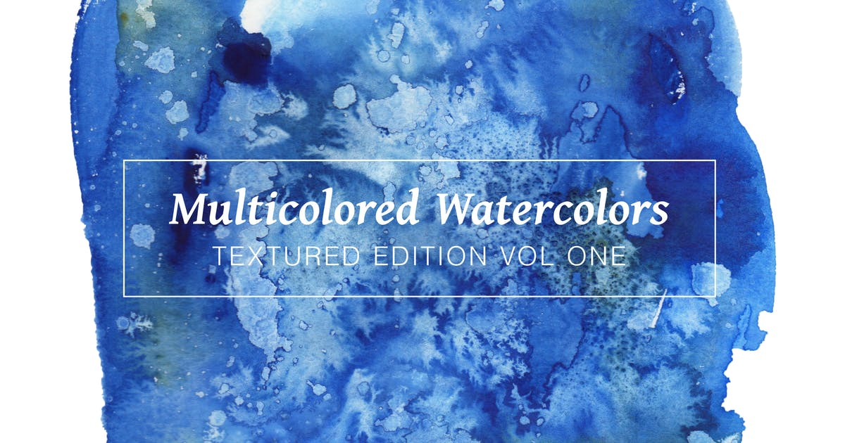 Download Multicolored Textured Watercolors Vol 1 by casscappello