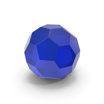 Стеклянный шестигранный шар синий