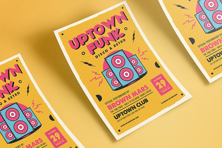 Thumbnail for Uptown Funk Music Flyer