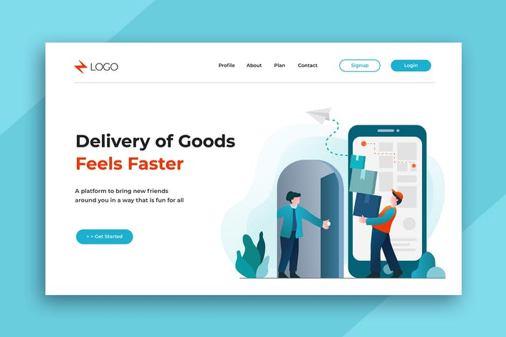 Thumbnail for Flat Illustration Landing Pages