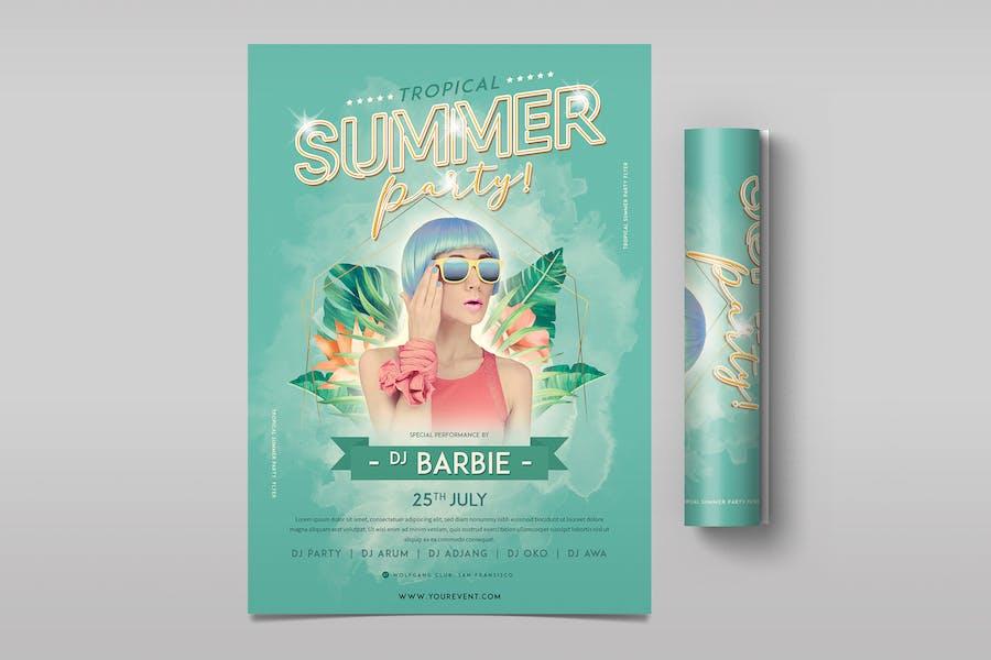 Tropischer Sommer-Party-Flyer