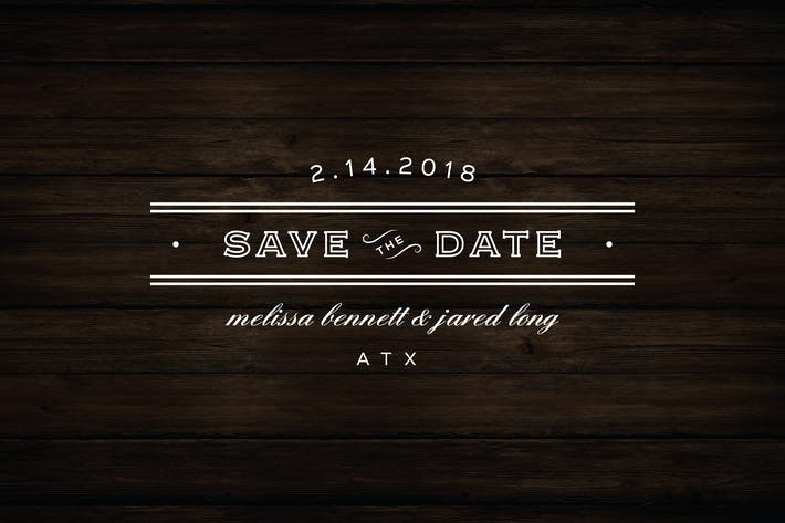 Cover Image For Vintage Save the Date Badge