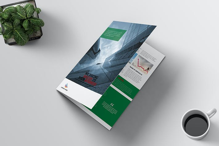 Thumbnail for Corporate/Business Bi-Fold Brochure