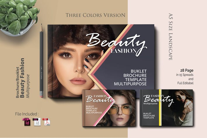 Thumbnail for A5  Beauty - Booklet Brochure Template