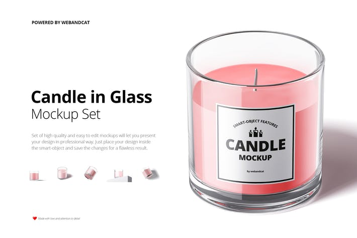 Thumbnail for Candle in Glass Mock-up