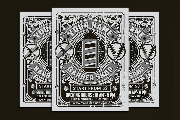 Thumbnail for Retro Barber Shop Flyer