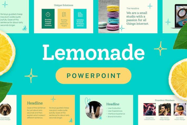 Thumbnail for Lemonade — Powerpoint Presentation Template