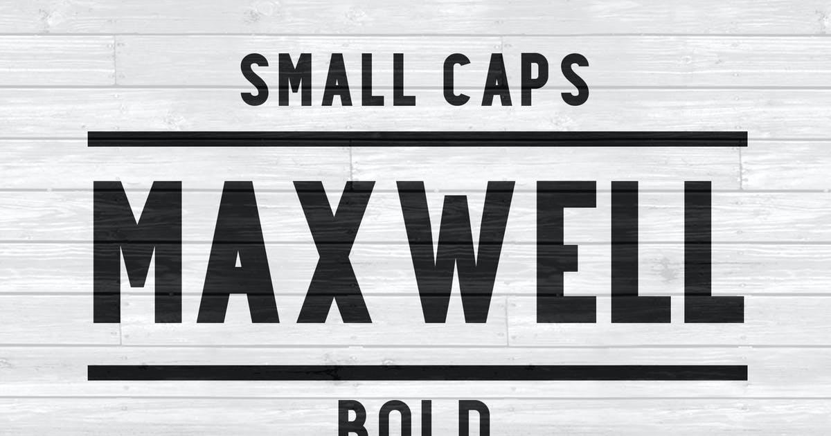 Maxwell Sans Small Caps Bold by kimmydesign